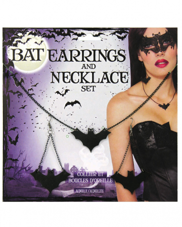 Bat Earrings & Necklace