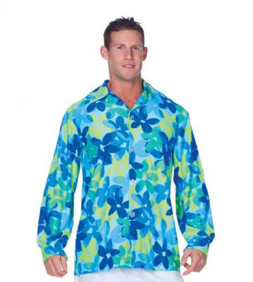 Hippie Herrenhemd Blau