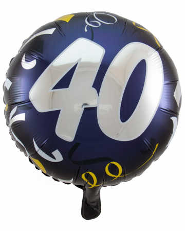 Foil Balloon 40 Black-gold 45cm