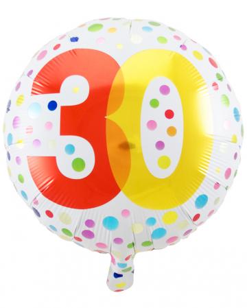 Konfetti 30. Geburtstag Folienballon