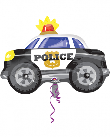 Polizeiauto Folienballon 45x60cm