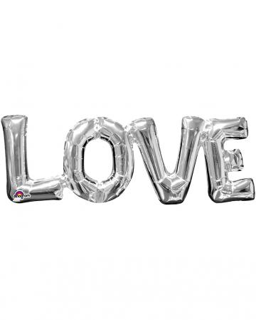 Silberner Schriftzug Love Folienballon