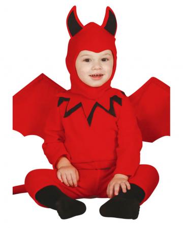 Rotes Teufelchen Babykostüm