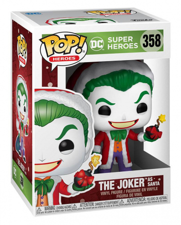 Funko Pop Heroes DC Holiday The Joker As Santa