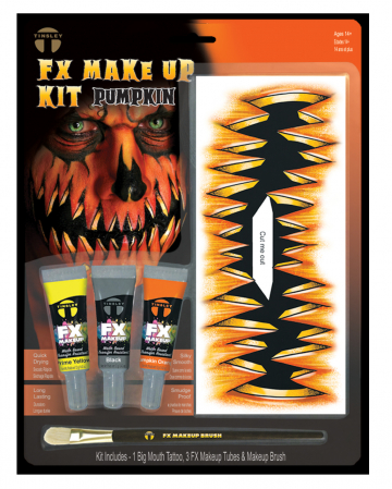 FX Make Up Kit Pumpkin mit Klebetattoo