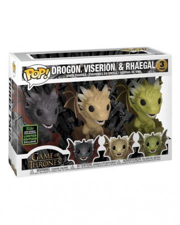 Drogon, Viserion & Rhaegal GOT Funko Pop! Set Of 3