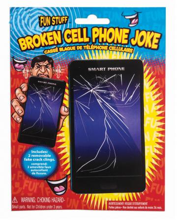 Zerbrochenes Handy Display Scherzartikel