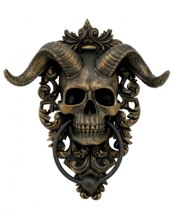 Horned Diabolus Door Knocker