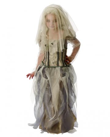 Gespenster Braut Kostüm mit Schleier für Kinder