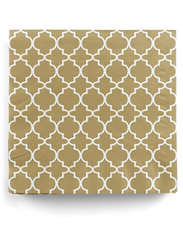 Patterned napkin gold-white 20 pc.
