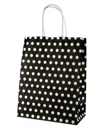 Gift Bag Black Spotted Big