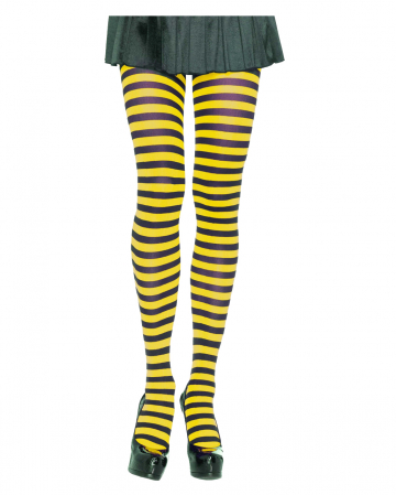 Striped Tights Black-yellow