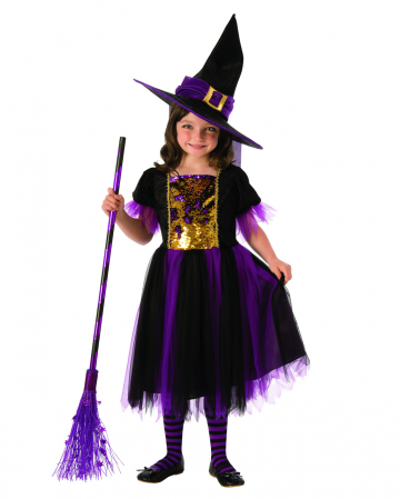 Glitter Sequins Witch Child Costume