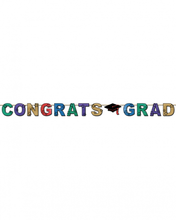 Funkelnder Congrats Grad Banner