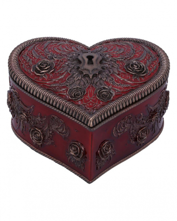 Gothic Heart Box With Keyhole 11cm