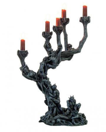 Gothic Kerzenhalter - Baum der Höllen Dämonen