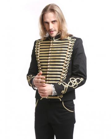 Gothic Parade Jacke Schwarz Gold