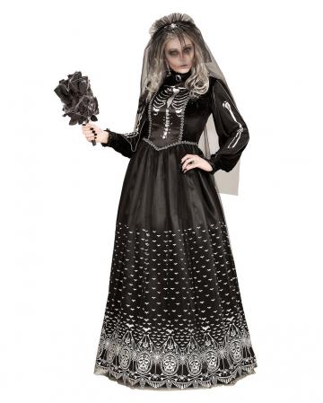 Tag der Toten Skelettbraut Kostüm