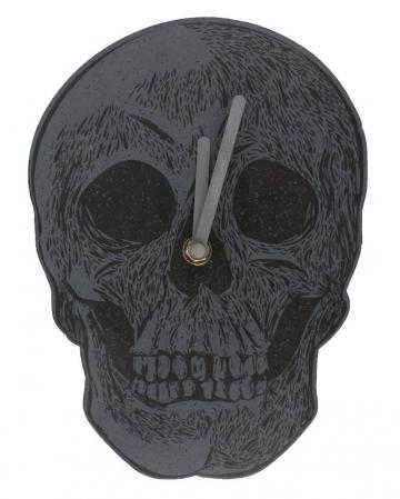 Gothic Totenschädel Wanduhr 23cm