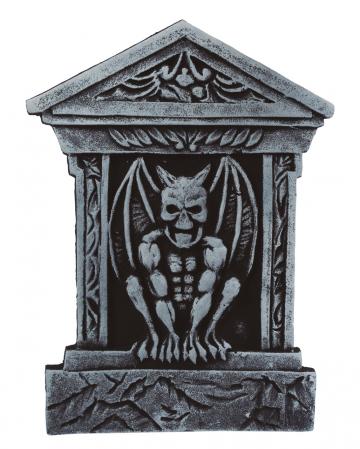 Grabstein mit Wasserspeier & Säulen 52cm