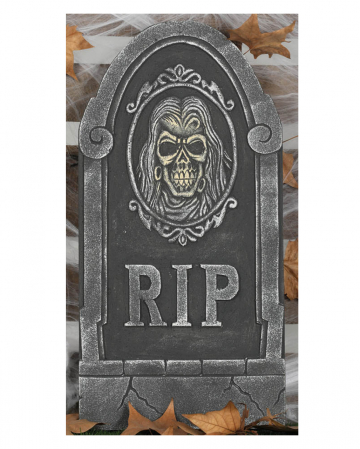 Gravestone With Skull RIP