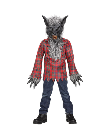 Werwolf Kinderkostüm Grau