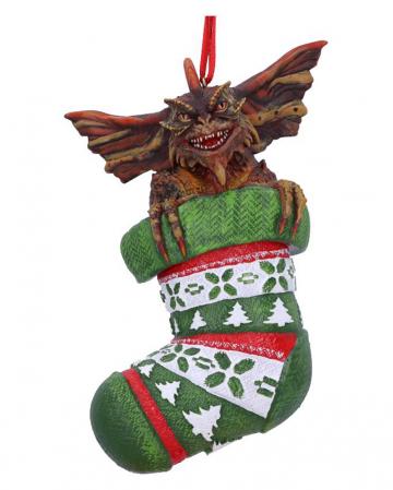Gremlins im Weihnachtsstrumpf Christbaumkugel