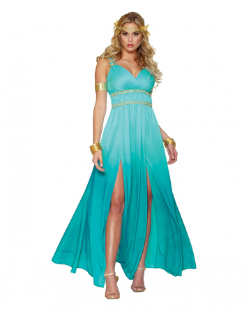 Greek Goddess Aphrodite Ladies Costume Turquoise
