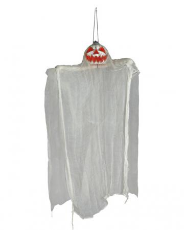 Grinning Pumpkin Ghost Hanging Figure 105cm