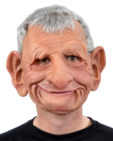 Grandfather Papa Full Head Mask With Hair