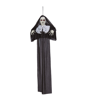 Zombie Nun Hanging Figure With LED Eyes