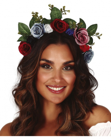 Hairband With Flowers & Leaves