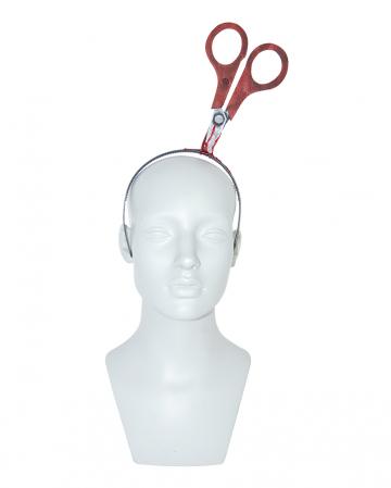 Blutiger Haarreif mit Schere