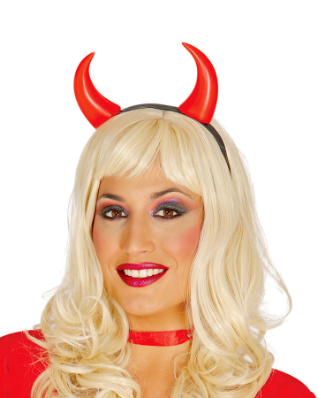 Hairband With Red Devil Horns