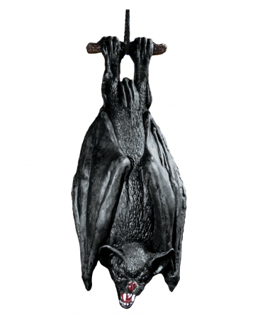 Hanging Bat Black 38cm