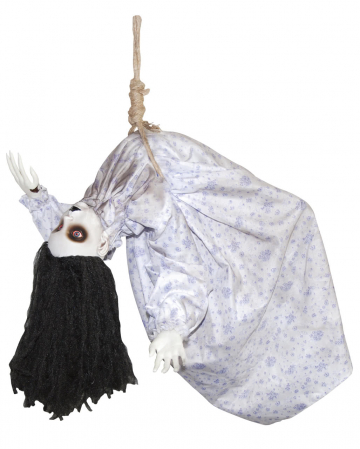 Hanging zombie doll with light & sound