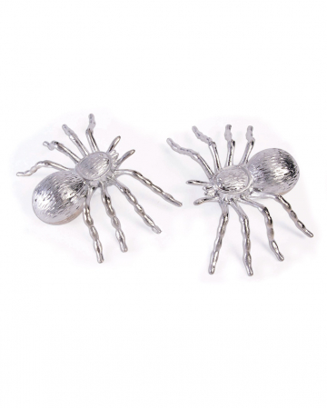Halloween Decoration Spiders Silver 2 Pcs.