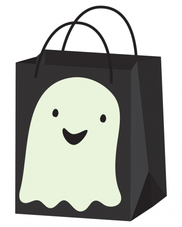 Halloween Ghost Trick Or Treat Paper Bag
