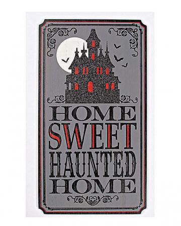 "Halloween Vintage Schild ""Haunted Home"""