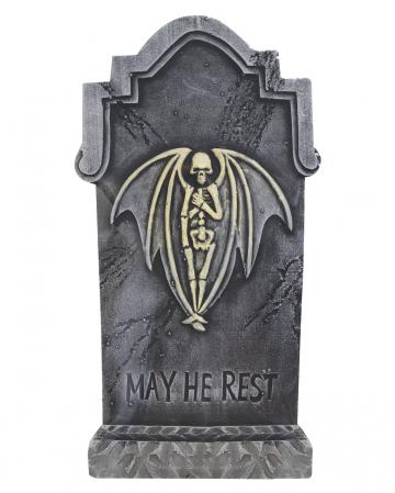 Halloween Gravestone Skeleton Angel