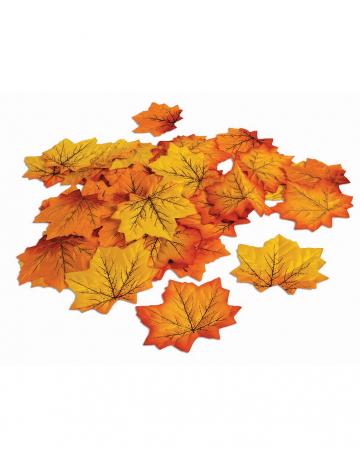 Herbstblätter als Halloween Deko