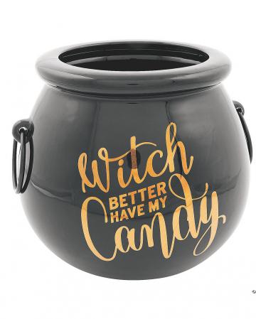 Hexenkessel Bonbonschüssel aus Keramik