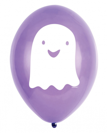 Halloween Balloons With Ghost 6 Pcs.