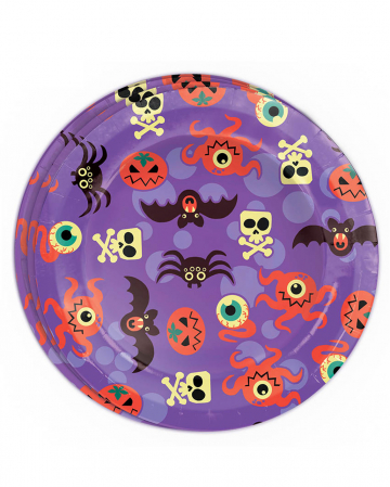 Halloween Monster Paper Plate 8 Pcs.