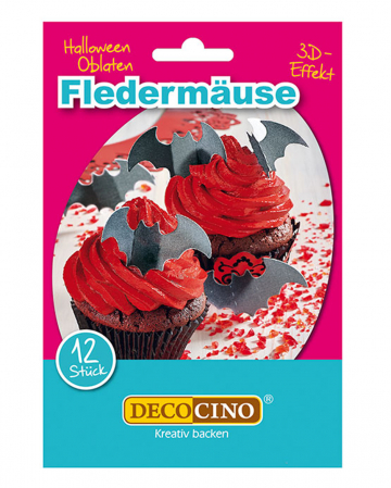 12 Fledermaus Halloween Oblaten
