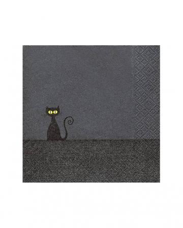 Black Cat Halloween Napkins 20 Pieces