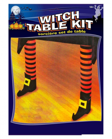 Halloween Tablecloth With 2 Witch Legs
