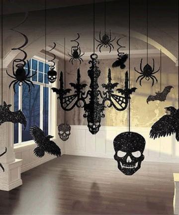 Halloween Glitter Hanging Decoration