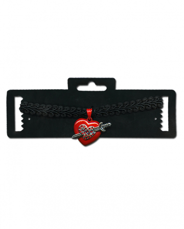 Collar with heart and Sword Pendant