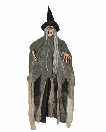 Hanging Witch Decoration Green